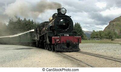 train, kingston, vapeur, partir