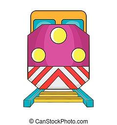 Train locomotive transportation railway icon