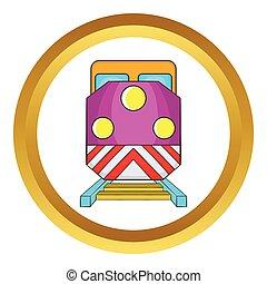 Train locomotive vector icon