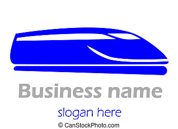 Train.  - Logo railway and train.