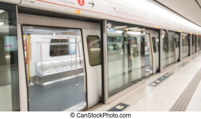 train, métro, Brouillé