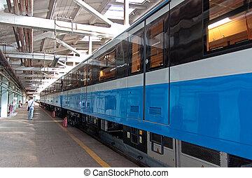 train, métro, dépôt