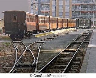train, matin