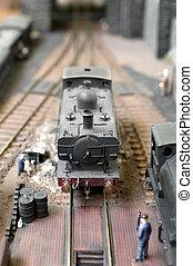 train modèle, vapeur