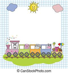 train, monture