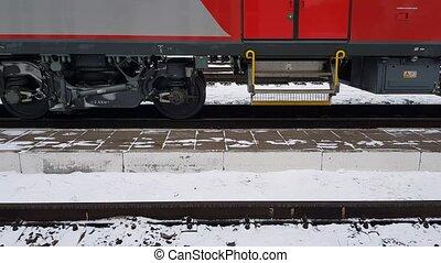 Train moving on rails