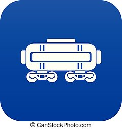 Train oil icon blue vector