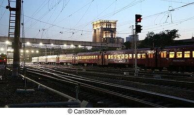 Train on Kiyevskaya railway station