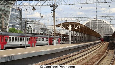 Train on Kiyevskaya railway station (Kiyevsky railway...