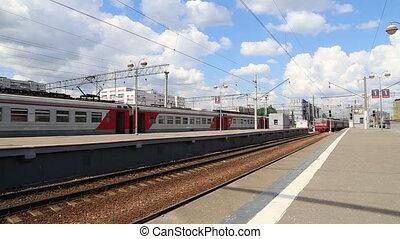 Train on Moscow passenger platform (Savelovsky railway...