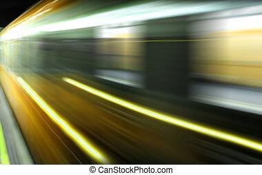 speed - Train on speed in railway station