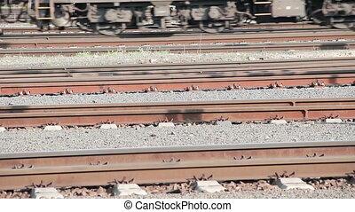 Train on the rails
