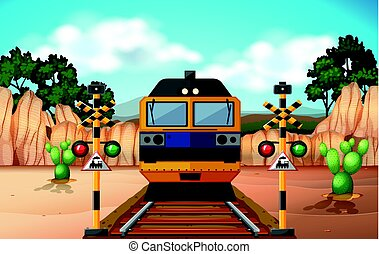 Train on the track