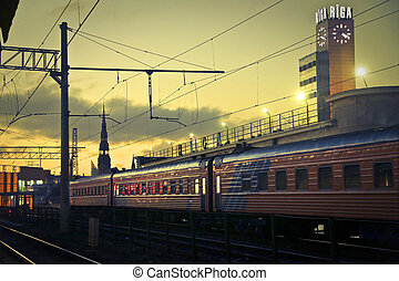 Train on the way