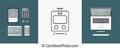 Train online booking - Thin series