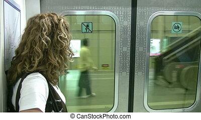 train passager, métro