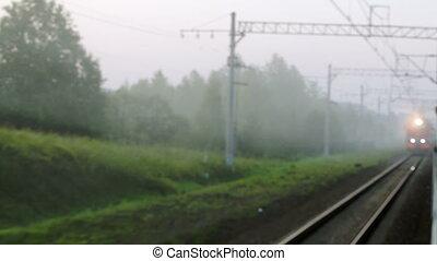 train passager, opposition, venir