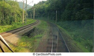 train passager, va, carpathians