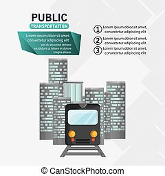 train passenger public transport urban infographic