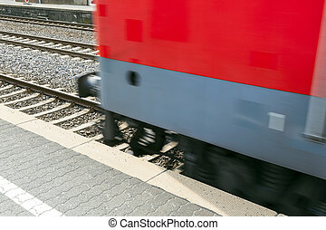 train passes with speed
