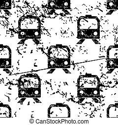 Train pattern, grunge, monochrome