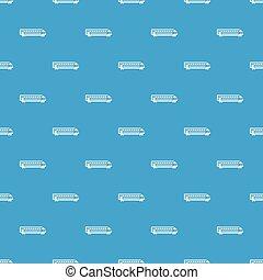 Train pattern seamless blue