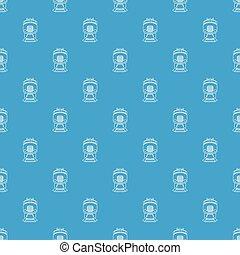 Train pattern vector seamless blue
