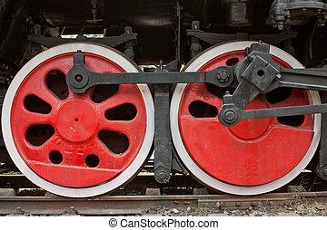train, porcelaine, vapeur, roues