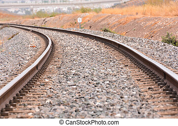 train,  rail, route