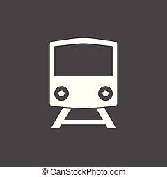 Train, Railway icon, vector illustration. Flat design.