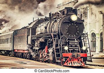 train., retro, vapeur