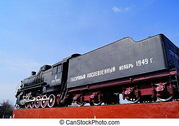 train, retro, vapeur