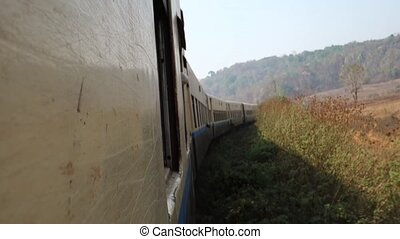Train ride in Myanmar - Adventurous train ride in Myanmar