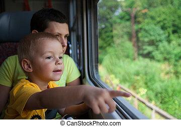 Train ride.
