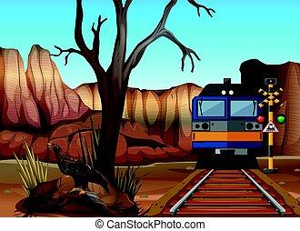 Train ride through canyons