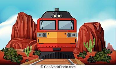 Train ride through the desert