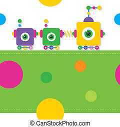 train robots greeting card