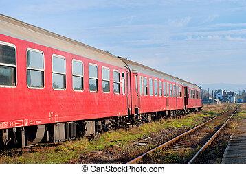 train rouge