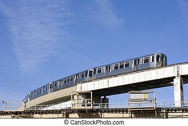 Train route in Chicago