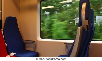 Train seats - HD1080: train seats. Shooting inside the train...