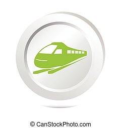 Train sign button icon