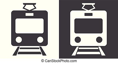Train sign icon