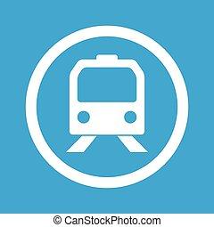 Train sign icon
