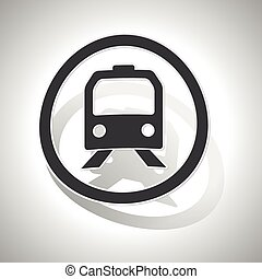Train sign sticker, curved