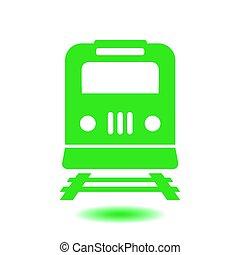 Train sign symbol.