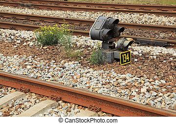 train signal lights