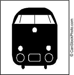 train, silhouette
