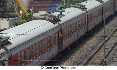train slowly passing,intercity