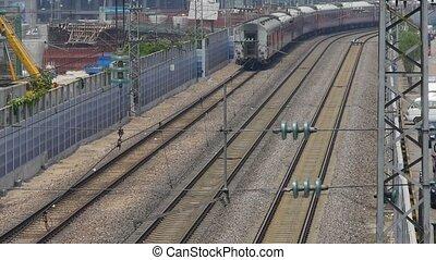 train slowly passing,intercity traf