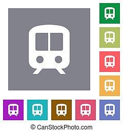 Train square flat icons